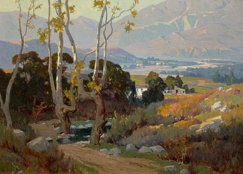 Art Prints of Santa Paula Valley by Elmer Wachtel.