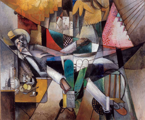 Art prints of Man in a Hammock by Albert Gleizes