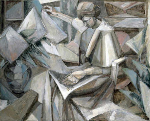 Art prints of Woman with Phlox by Albert Gleizes