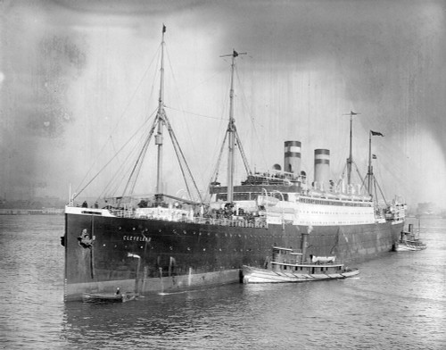 Art prints of the S.S. Cleveland of the Hamburg American Line