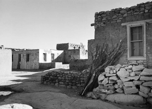 Art prints of Acoma Pueblo, Looking Across the Street, New Mexico by Ansel Adams