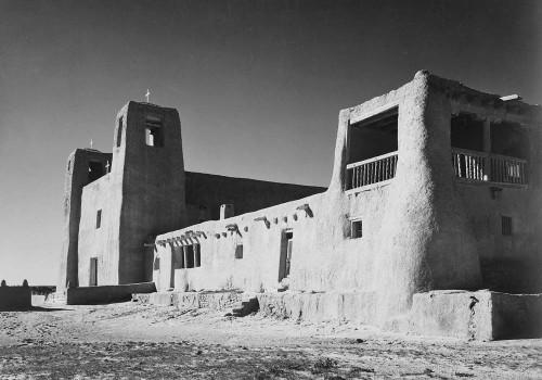 Art prints of Church, Acoma Pueblo, Corner View, New Mexico by Ansel Adams