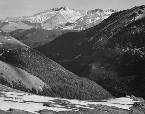 Art prints of Close in view, Long's Peak, Rocky Mountain National Park, Colorado by Ansel Adams