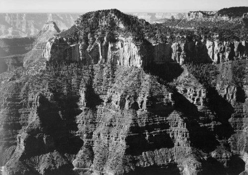 Art prints of Close-in View taken from Opposite of Cliff Formation, Grand Canyon National Park, Arizona by Ansel Adams