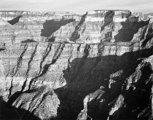 Art prints of Closer View of Cliff Formation, Grand Canyon from North Rim, 1941, Arizona