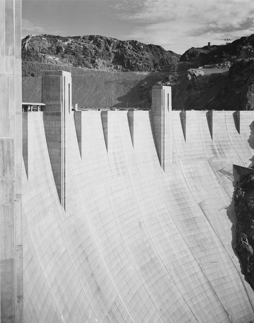 Art prints of Close-Up Photograph of Hoover Dam (aka Boulder Dam) by Ansel Adams