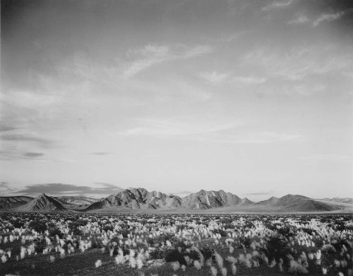 Art prints of Distant View of Mountains, Desert Near Death Valley, California