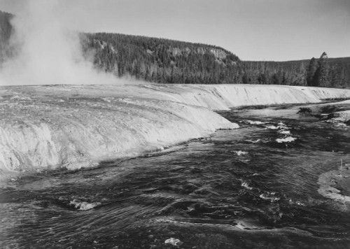 Art prints of Firehold River, Yellowstone National Park, Wyoming by Ansel Adams