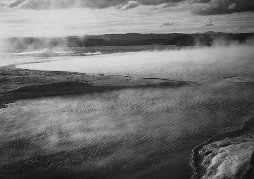 Art prints of Fountain Geyser Pool, Yellowstone National Park, Wyoming by Ansel Adams