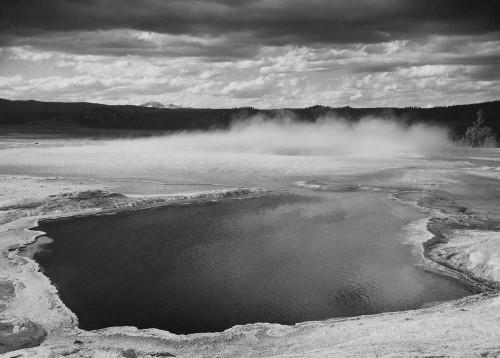 Art prints of Fountain Geyser Pool, Yellowstone National Park, Wyoming III by Ansel Adams