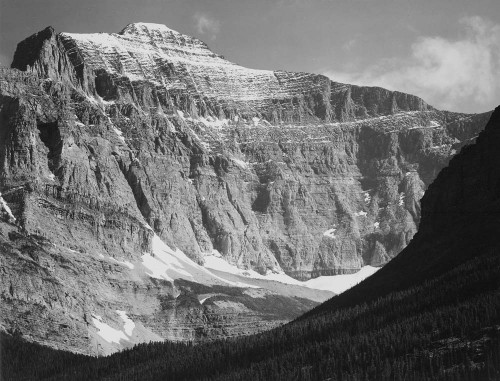 Art prints of From Going-to-the-Sun Chalet, Glacier National Park, Montana by Ansel Adams