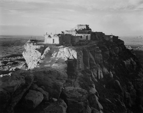 Art prints of Full View of the City on Top of Mountain, Walpi, Arizona, 1941 by Ansel Adams