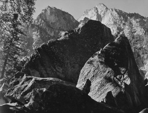 Art prints of Grand Sentinel, Kings River Canyon by Ansel Adams