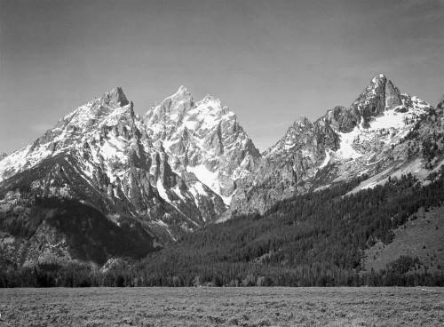 Art prints of Grassy Valley, Grand Teton National Park, Wyoming by Ansel Adams