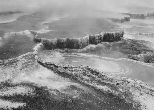 Art prints of Jupiter Terrace, Fountain Geyser Pool, Yellowstone National Park, Wyoming by Ansel Adams