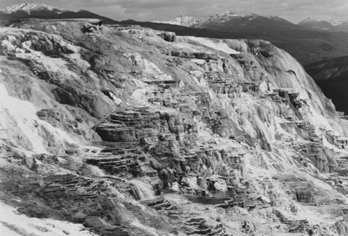 Art prints of Jupiter Terrace, Fountain Geyser Pool, Yellowstone National Park, Wyoming II by Ansel Adams