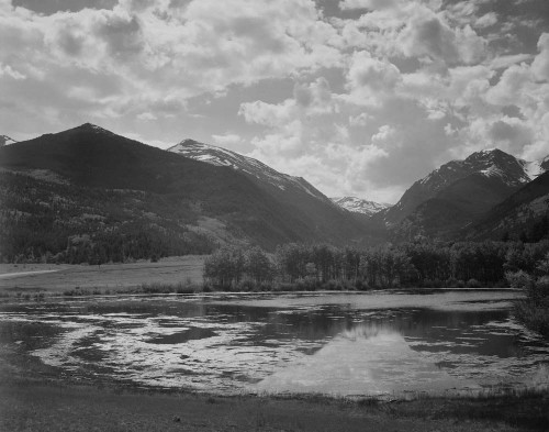 Art prints of Lake and trees, In Rocky Mountain National Park, Colorado