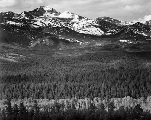 Art prints of Long's Peak from Road, Rocky Mountain National Park, Colorado