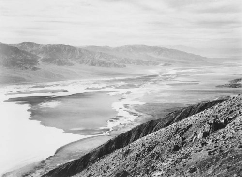 Art prints of Looking across desert toward mountains, Death Valley National Monument, California