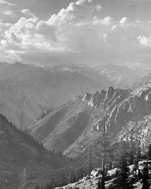 Art prints of Middle Fork at Kings River from South Fork of Cartridge Creek, Kings River Canyon by Ansel Adams