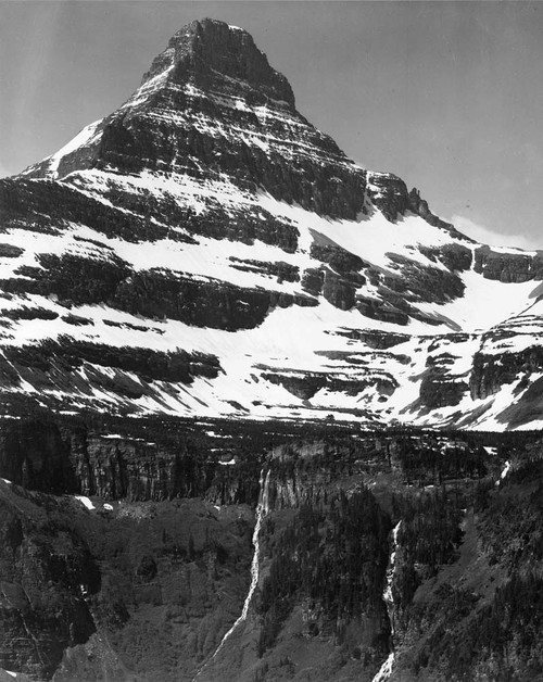 Art prints of Mountain and Timberline, Glacier National Park, Montana by Ansel Adams