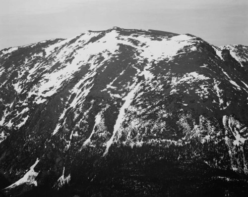 Art prints of Mountain Side with Snow, In Rocky Mountain National Park, Colorado