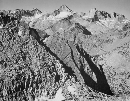 Art prints of Mt. Brewer, Kings River Canyon by Ansel Adams
