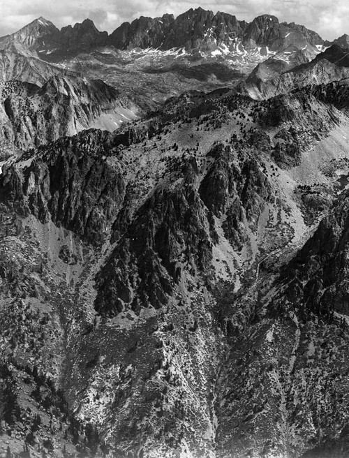 Art prints of North Palisades from Windy Point, Kings River Canyon by Ansel Adams