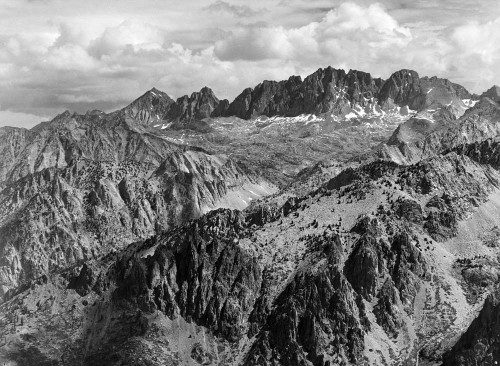 Art prints of North Palisades from Windy Point, Kings River Canyon II by Ansel Adams