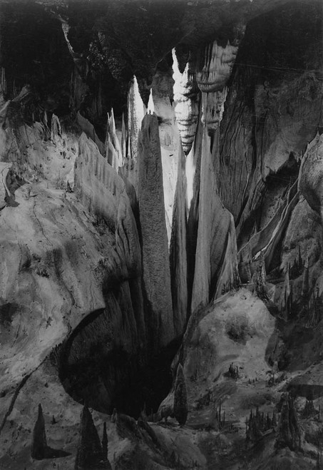 Art prints of Onyx drapes in the Papoose Room, Carlsbad Caverns National Park, New Mexico