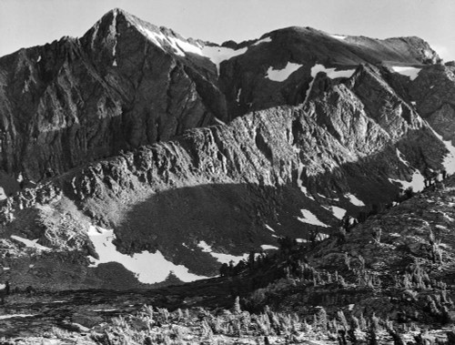 Art prints of Peak above Woody Lake, Kings River Canyon by Ansel Adams