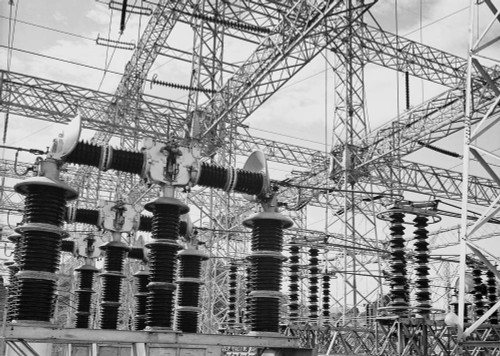 Art prints of Photograph of Electrical Wires of the Hoover Dam (aka Boulder Dam) Power Units by Ansel Adams