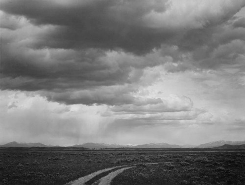 Art prints of Roadway Near Grand Teton National Park, Wyoming by Ansel Adams
