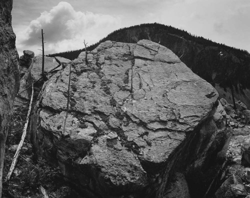 Art prints of Rocks at Silver Gate, Yellowstone National Park, Wyoming by Ansel Adams