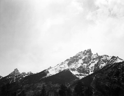 Art prints of Snow Covered Peak, Grand Teton National Park, Wyoming by Ansel Adams