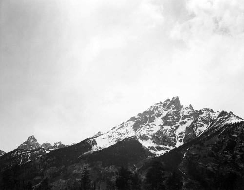 Art prints of Snow Covered Peak, Grand Teton National Park, Wyoming by Ansel Adams