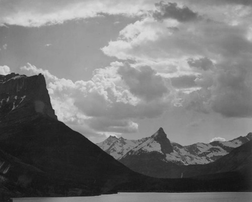 Art prints of St. Mary's Lake, Glacier National Park, Montana by Ansel Adams