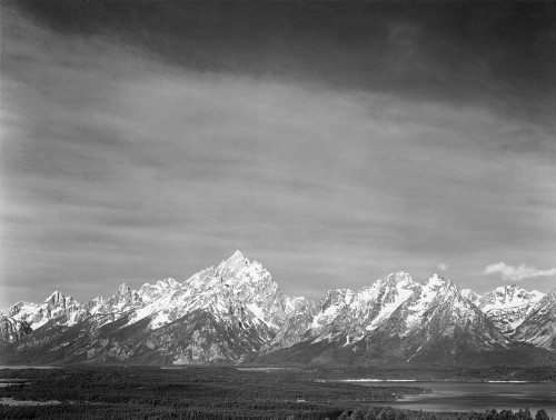 Art prints of Tetons from Signal Mountain, Grand Teton National Park, Wyoming by Ansel Adams