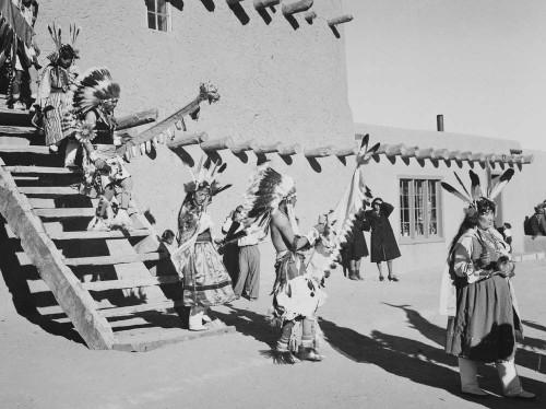 Art prints of Tewas in Headdress, Dance, San Ildefonso Pueblo, New Mexico