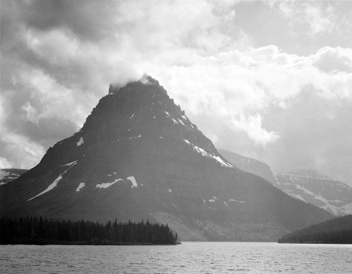 Art prints of Two Medicine Lake, Glacier National Park, Montana by Ansel Adams