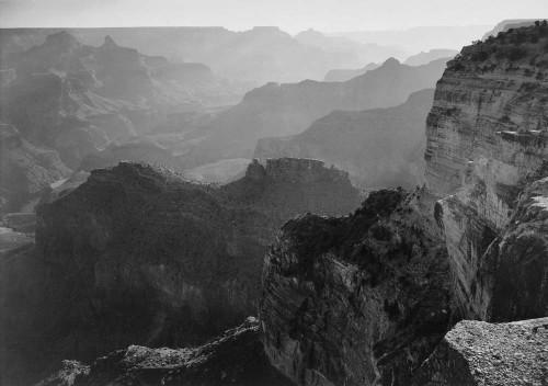Art prints of View Looking Down, Grand Canyon National Park, Arizona by Ansel Adams