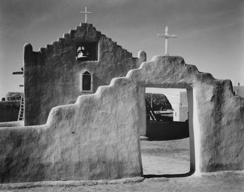 Art prints of View of entrance, Church, Taos Pueblo National Historic Landmark, New Mexico, 1941
