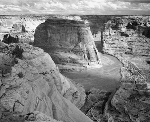 Art prints of View of Valley from the Mountain, Canyon de Chelly, Arizona by Ansel Adams