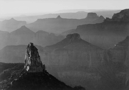 Art prints of View with Rock Formation in Foreground, Grand Canyon National Park, Arizona by Ansel Adams