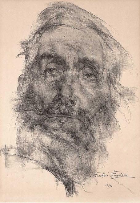 Art prints of The Philosopher, 1937 by Nicolai Fechin