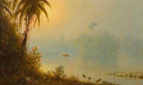 Prints and cards of Gatun Lake, Panama 1874 by Norton Bush