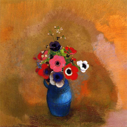 Prints and cards of Bouquet of Poppies by Odilon Redon