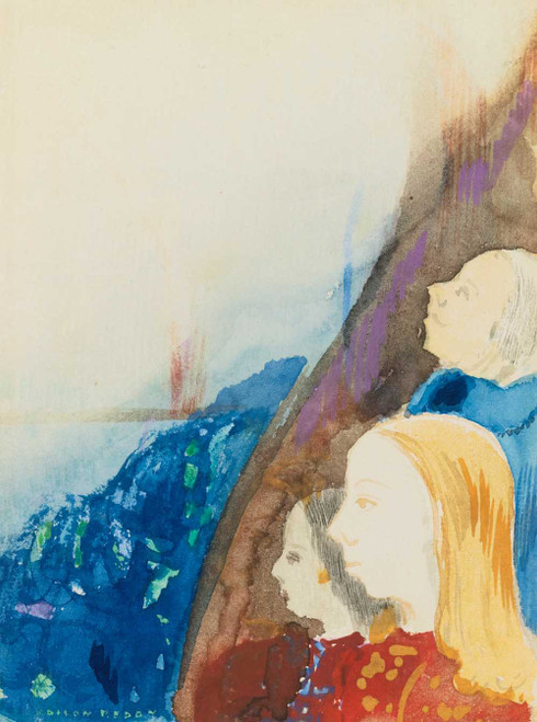Prints and cards of Contemplation by Odilon Redon