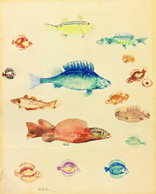Prints and cards of Fish by Odilon Redon