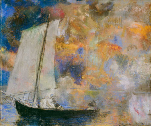 Prints and cards of Flower Clouds by Odilon Redon